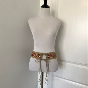 Anthropologie Boho Suede Waist Belt